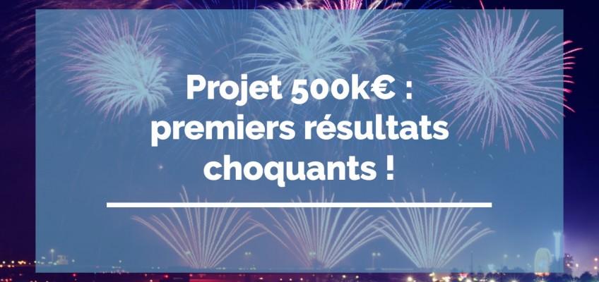 Projet 500ke : premiers résultats choquants !