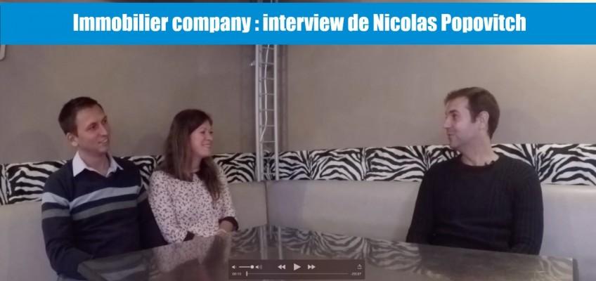 Immobilier Company : interview de Nicolas