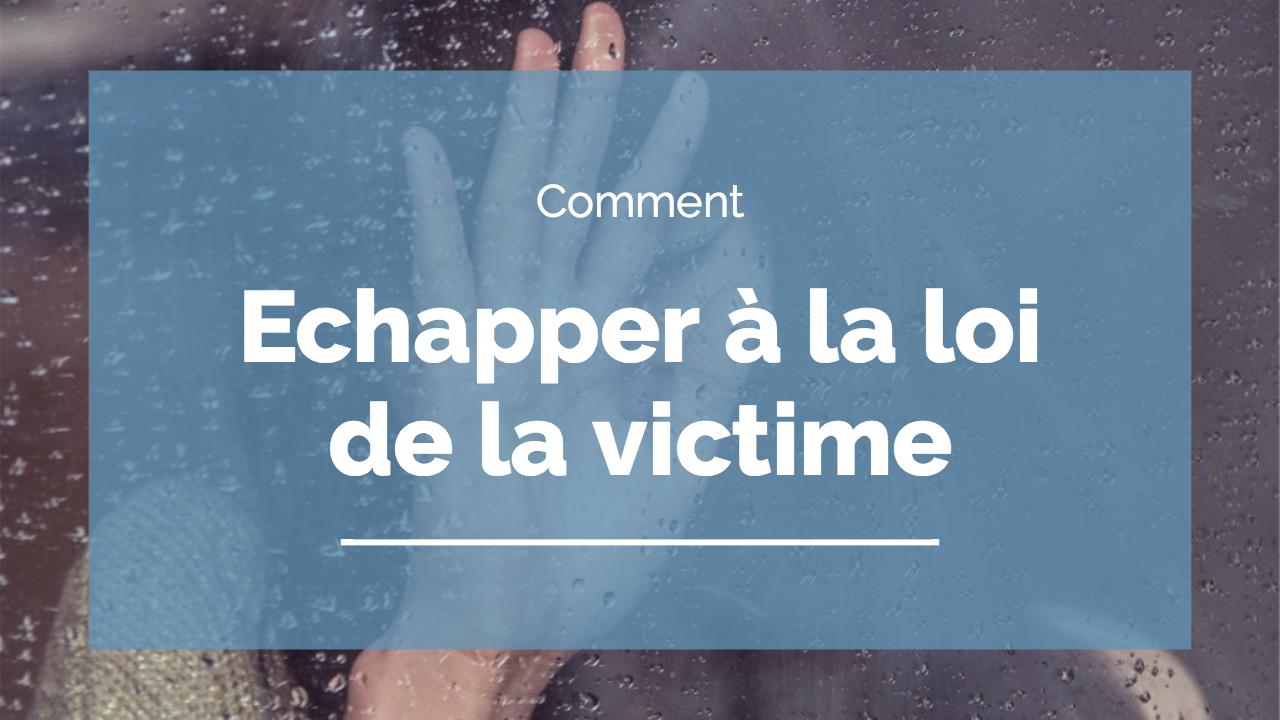 loi de la victime